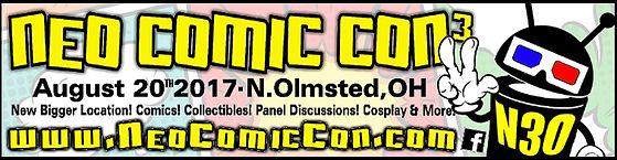 NEO Comic Con 2017 Logo Banner