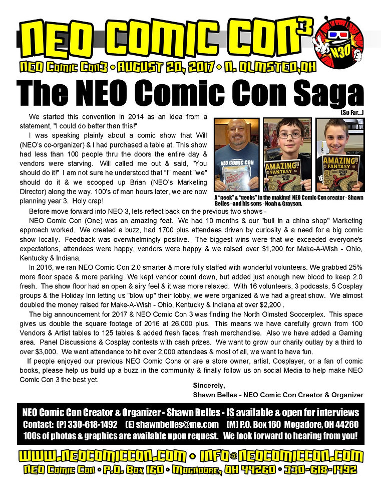 neo comic con comics convention book books