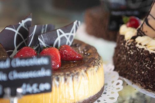 Chocolate Ripple Baked Cheesecake