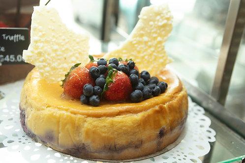 Fresh Blueberry Baked Cheesecake