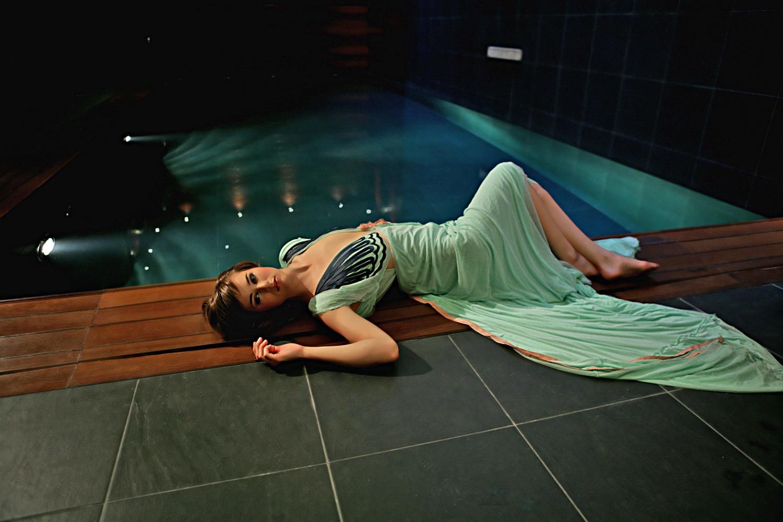 Green At the pool