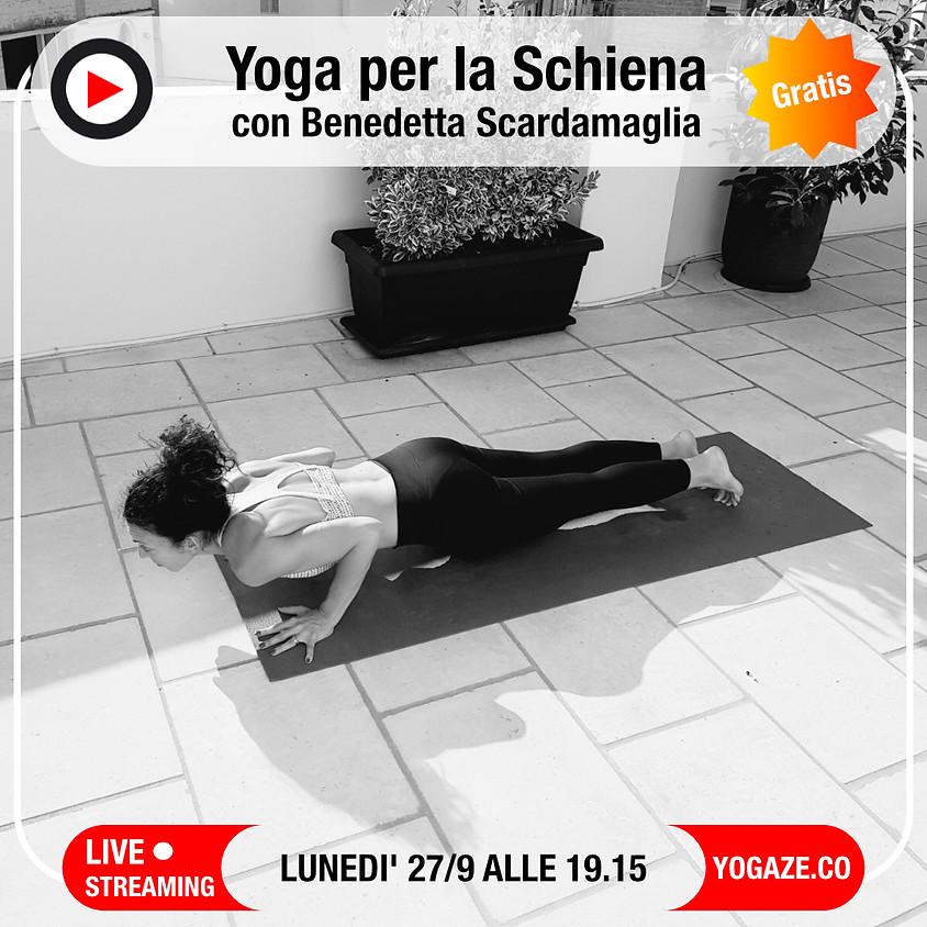 Yoga per la Schiena con Benedetta Scardamaglia - Gratis