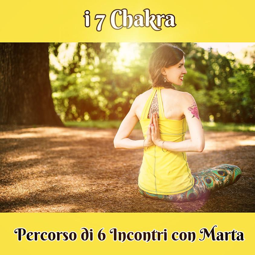Pranayama, Pratyahara e Mantra Yoga  - i 7 chakra - Percorso di 6 Incontri con Marta Sclafani