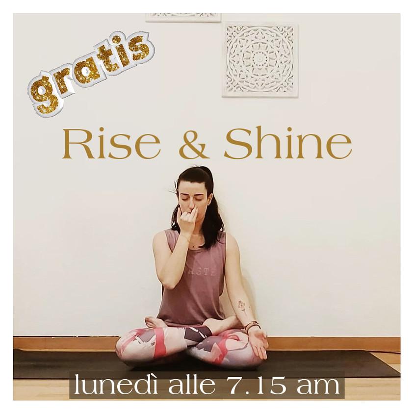 Rise & Shine - Hatha Raja Yoga con Michela Granconato - GRATIS