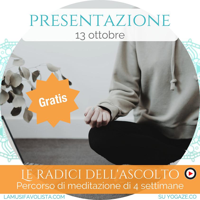 """Presentazione Percorso di Meditazione con """"La Musifavolista"""" - Gratis"""