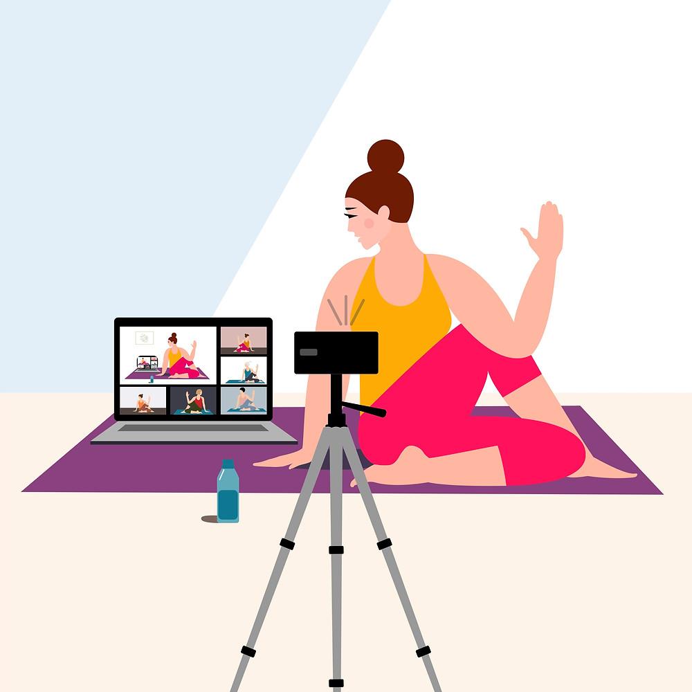 Classe yoga in diretta streaming