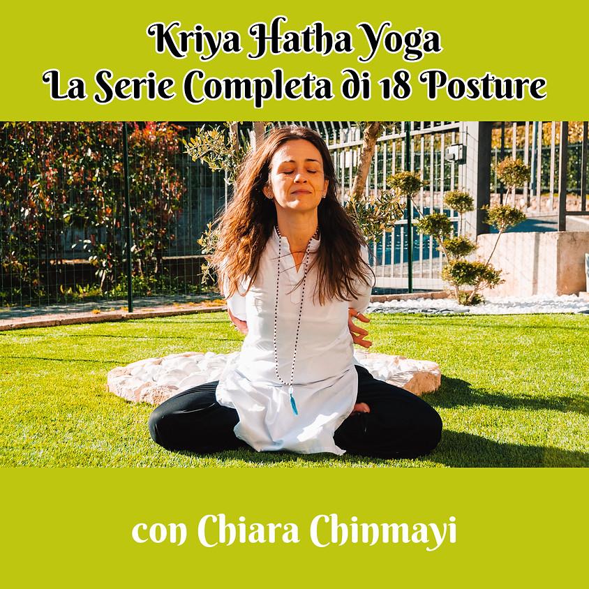 Kriya Hatha Yoga con Chiara Chinmayi - La Serie Completa di 18 Posture - Gratis