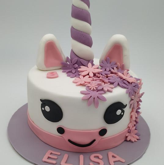 Gâteau Pâte à sucre Licorne