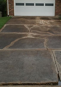 Cracked Driveway Repair Before