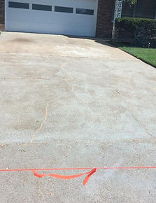 Cracked Driveway Repair After