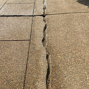 Exposed Aggregate Crack RepairBefore