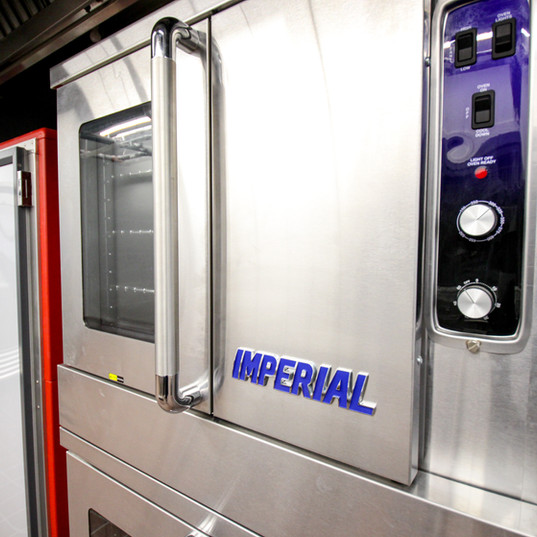 Imperial double convection oven w/ gas turbo flow