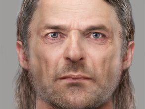 Ancient facial reconstruction created from one of Scotland's earliest Pictish graves