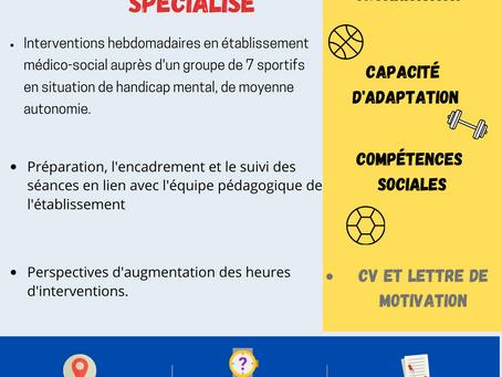 Le CDSA recherche un éducateur sportif spécialisé