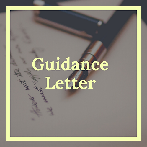 Channeled Guidance Letter