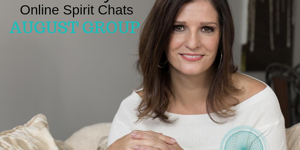 August Online Spirit Chat with Psychic Medium Christie Flynn
