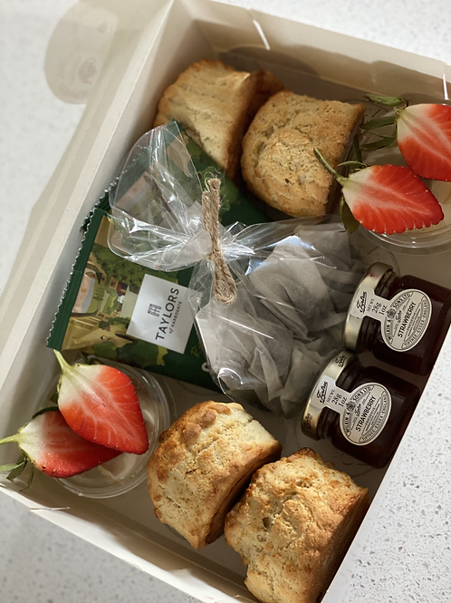 Cream tea box for 2 - sweet/savoury/mixed - Delivery OR collect (NN7)
