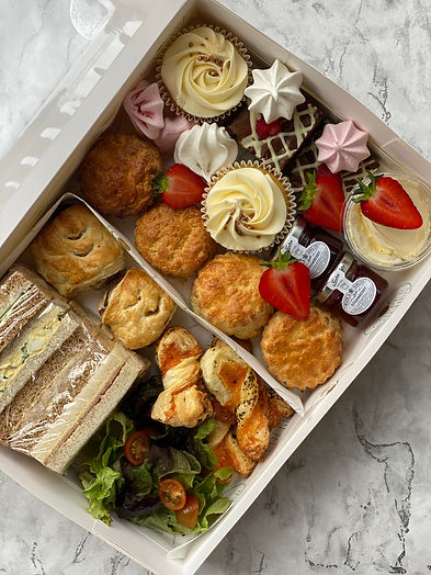 Boxed afternoon tea