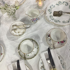 Afternoon Tea Cutlery and Crockery