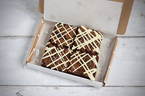 MINI POSTAL Brownie box - 4 piece - dispatched within 2-3 days of ordering