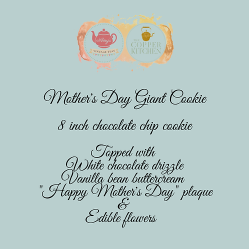 Mother's Day giant decorated cookie - 13th/14th March - delivery OR collect