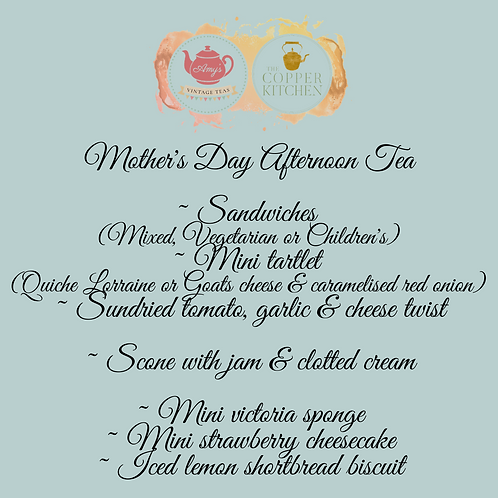 Mother's Day BOXED SINGLE PORTION Afternoon Tea-13th/14thMarch-deliveryORcollect