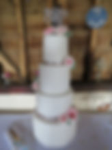 4 tiered bespoke wedding cake from The Copper Kitche