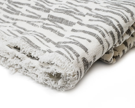 Linen Blanket -Transit (Cement)