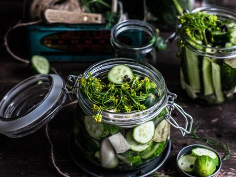Fermentiertes Essen für Darm- und Hautgesundheit