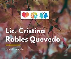 Cristina Robles Quevedo Psicoterapeuta