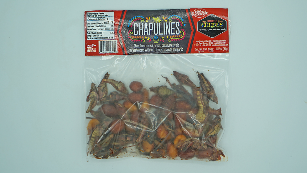 Chapulines with peanuts