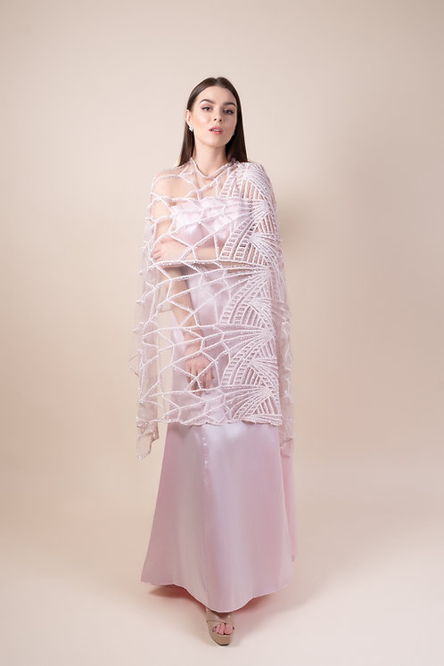 Pink Beaded Cape