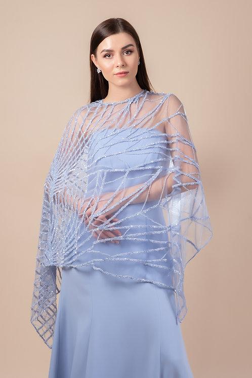 Beaded Cape w/ Sleeveless Dress