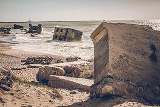 """ Bunker Ruins Near The Baltic Sea Beach in Latvia "" Released a photo!"