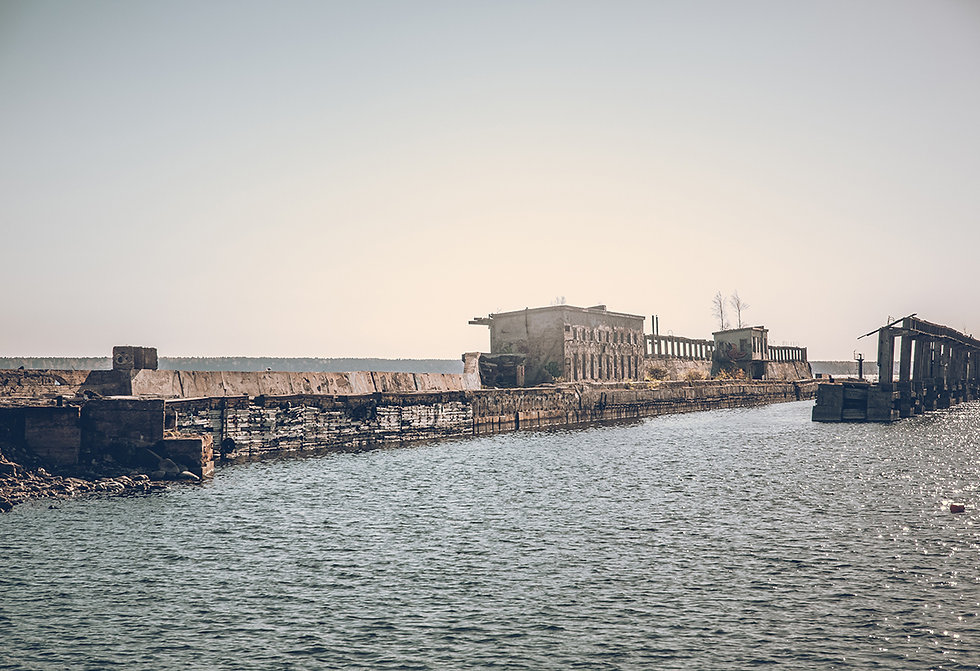 abandned soviet submarine base