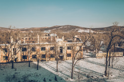 Abandoned garrison on the border between Primorye and China