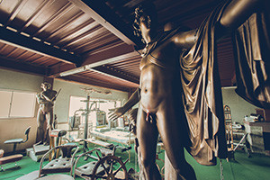 """Bronze statue Abandoned hospital"" Released a photo!"