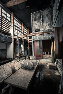 Abandoned snow country textile mill