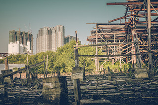 """ The Abandoned Shipyard in Macau "" Released a photo!"