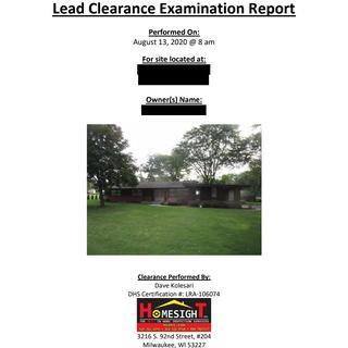 Lead Based Paint Testing