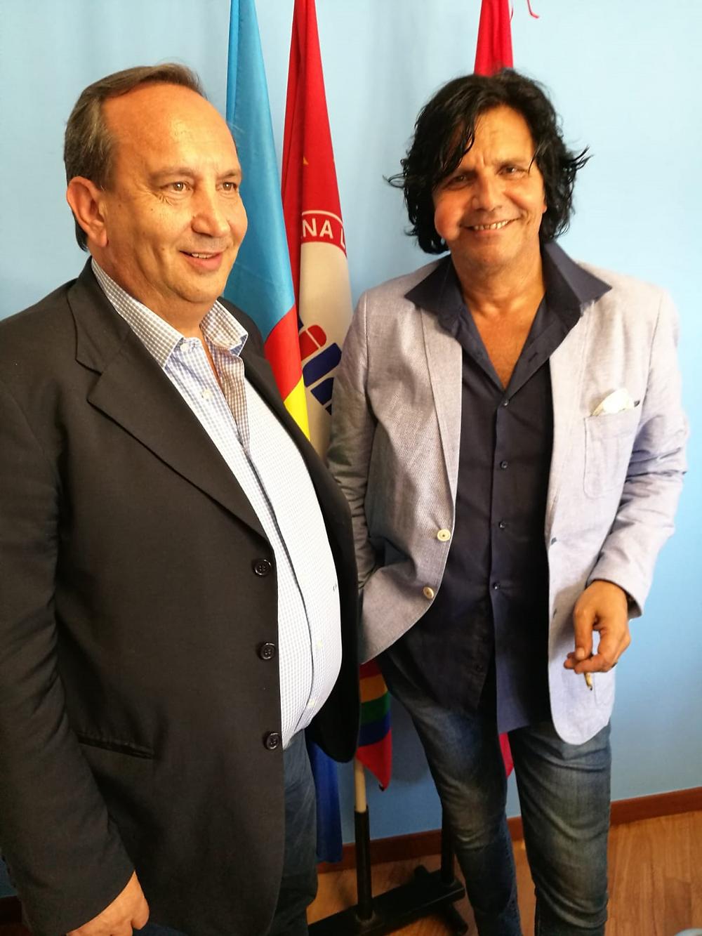 Crescenzo Auriemma e Ciro Pistone: la squadra della Uilm che ha seguito l'azienda negli anni di vertenza