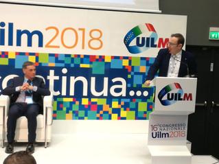 Congresso nazionale Uilm 2018: l'intervento di Antonio Accurso