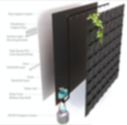 Biowall Greenwall Vertical garden specification and schematics