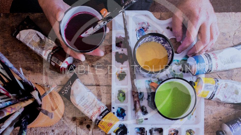 TABLE DE TOURON - Carte postales recettes lot Hiver
