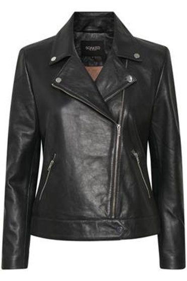 Soaked in Luxury Maeve Leather Jacket LS