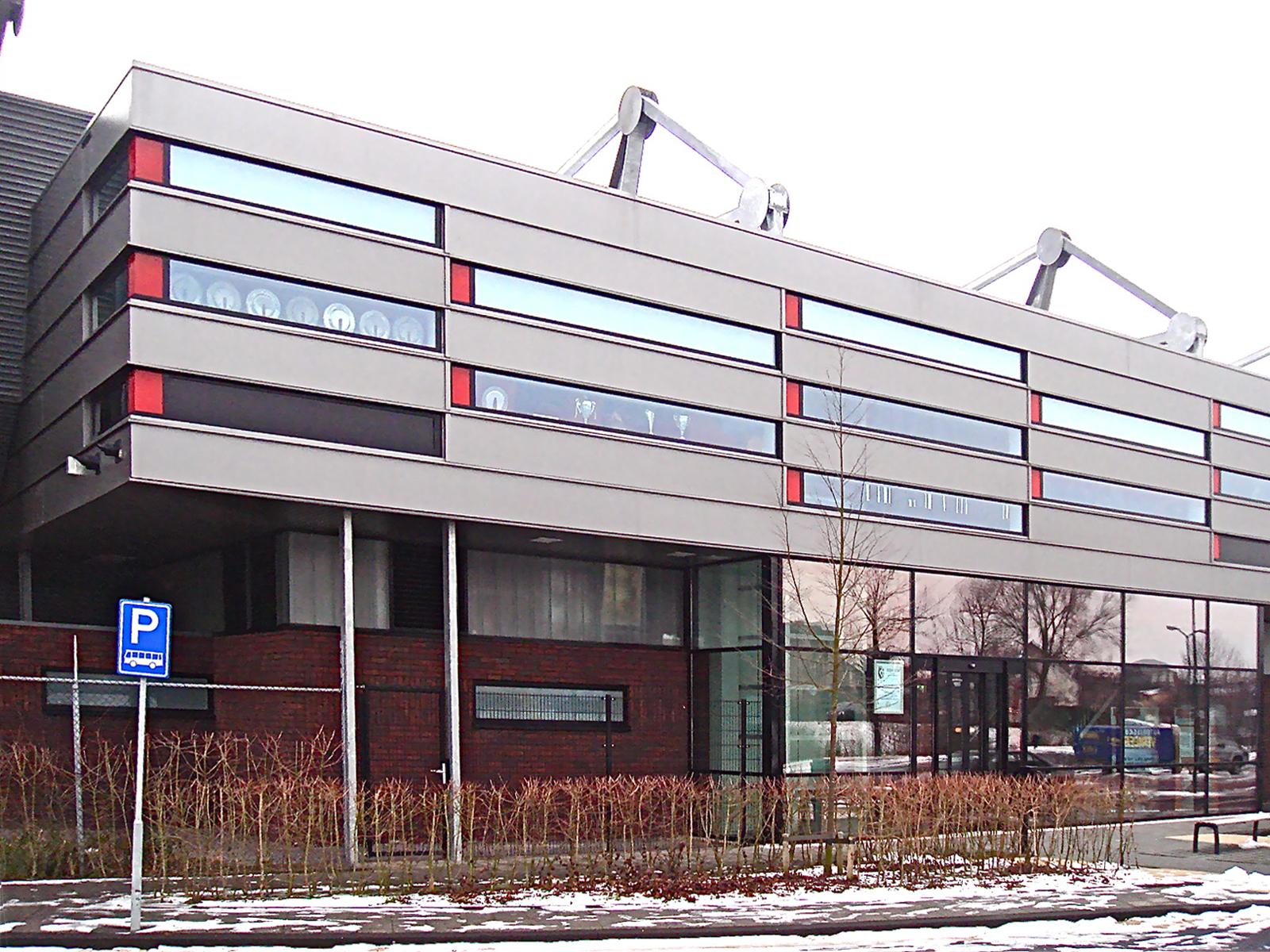 Tribune voetbalstadion te Bunschoten