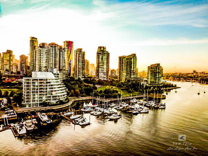 My morning walk views, George Weiborn  Park, False Creek, Vancouver, BC, Canada #38