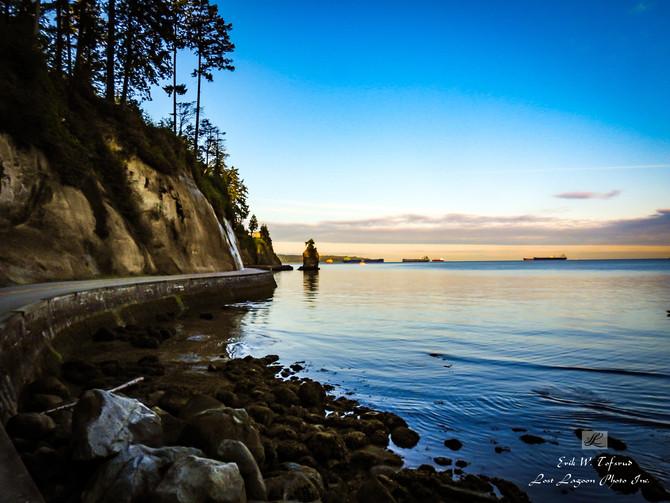 My morning walk views, Siwash Rock, Seawall,Vancouver,BC, Canada