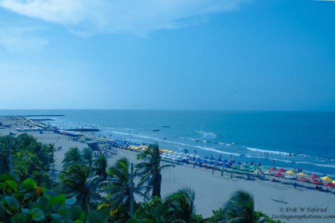 View of Bocogrande, Cartagena, Colombia