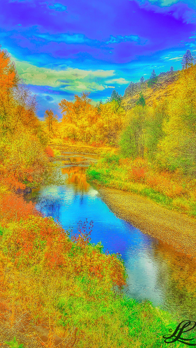 Powder River, Baker County, OR, USA